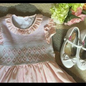 Girls Smocked Spring Dress